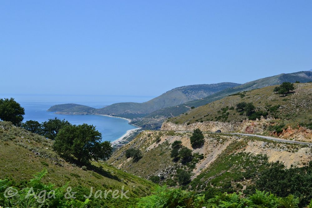 droga przy morzu